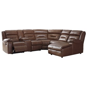 6-Piece Sectional with Chaise and Storage Console