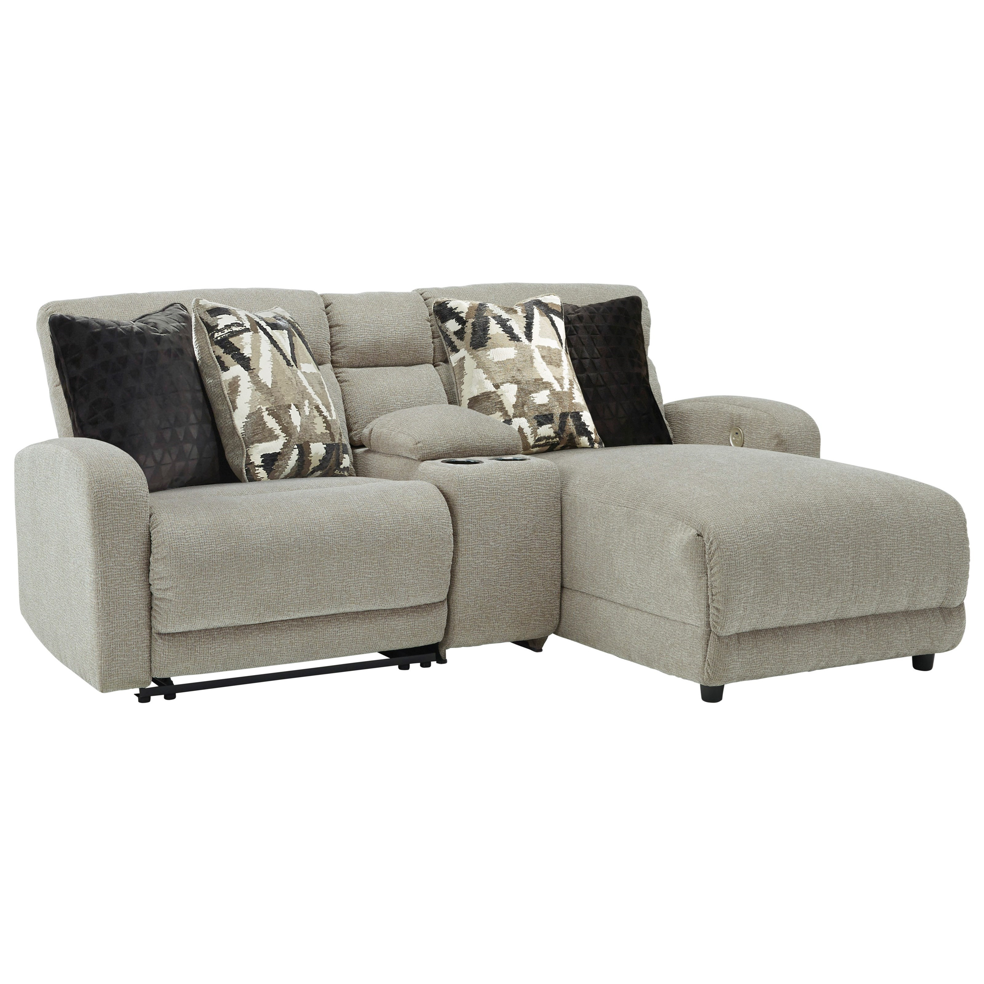 Colleyville 3-Piece Power Recl Sectional with Chaise by Signature Design by Ashley at Zak's Warehouse Clearance Center