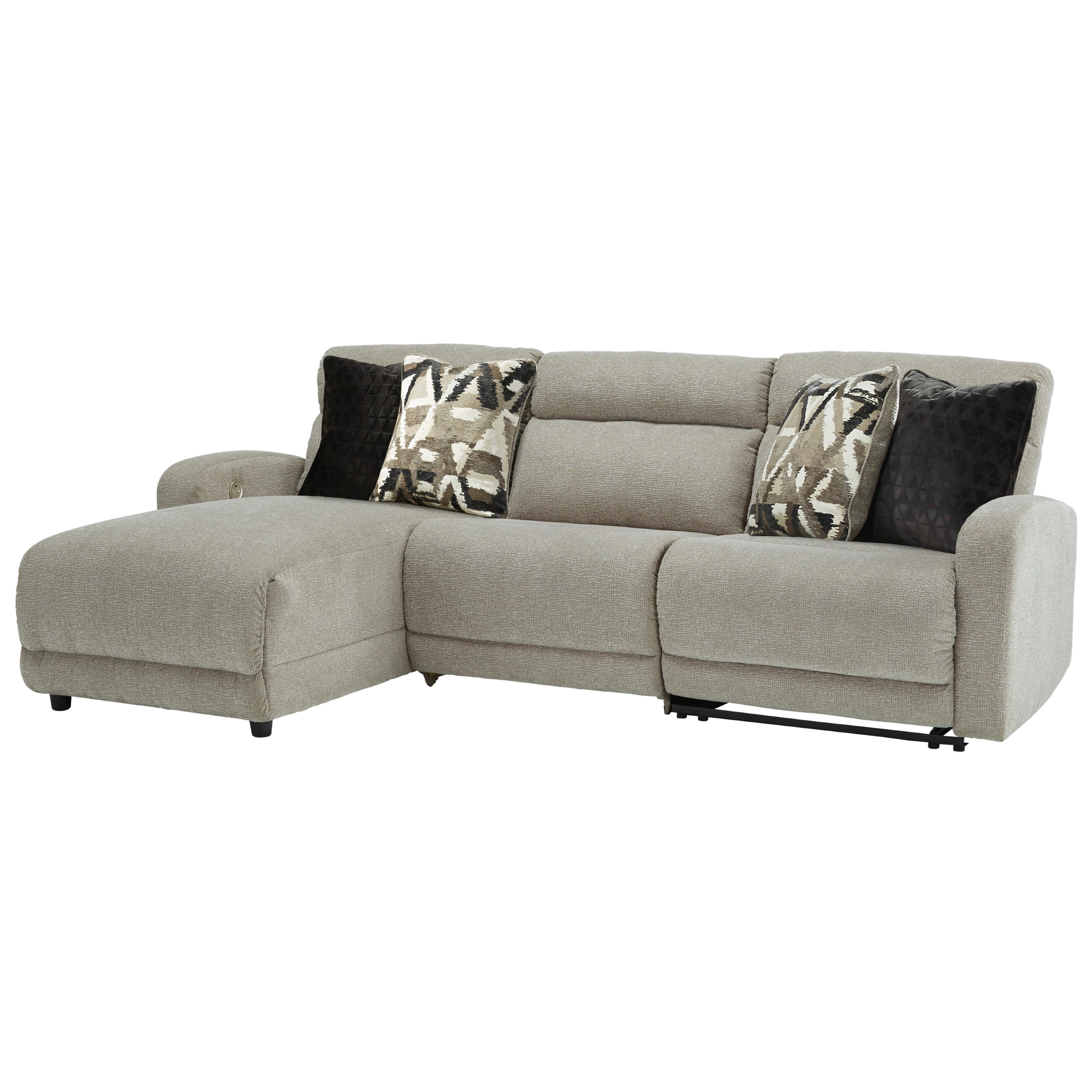 Colleyville 3-Piece Power Recl Sectional with Chaise by Signature Design by Ashley at Northeast Factory Direct