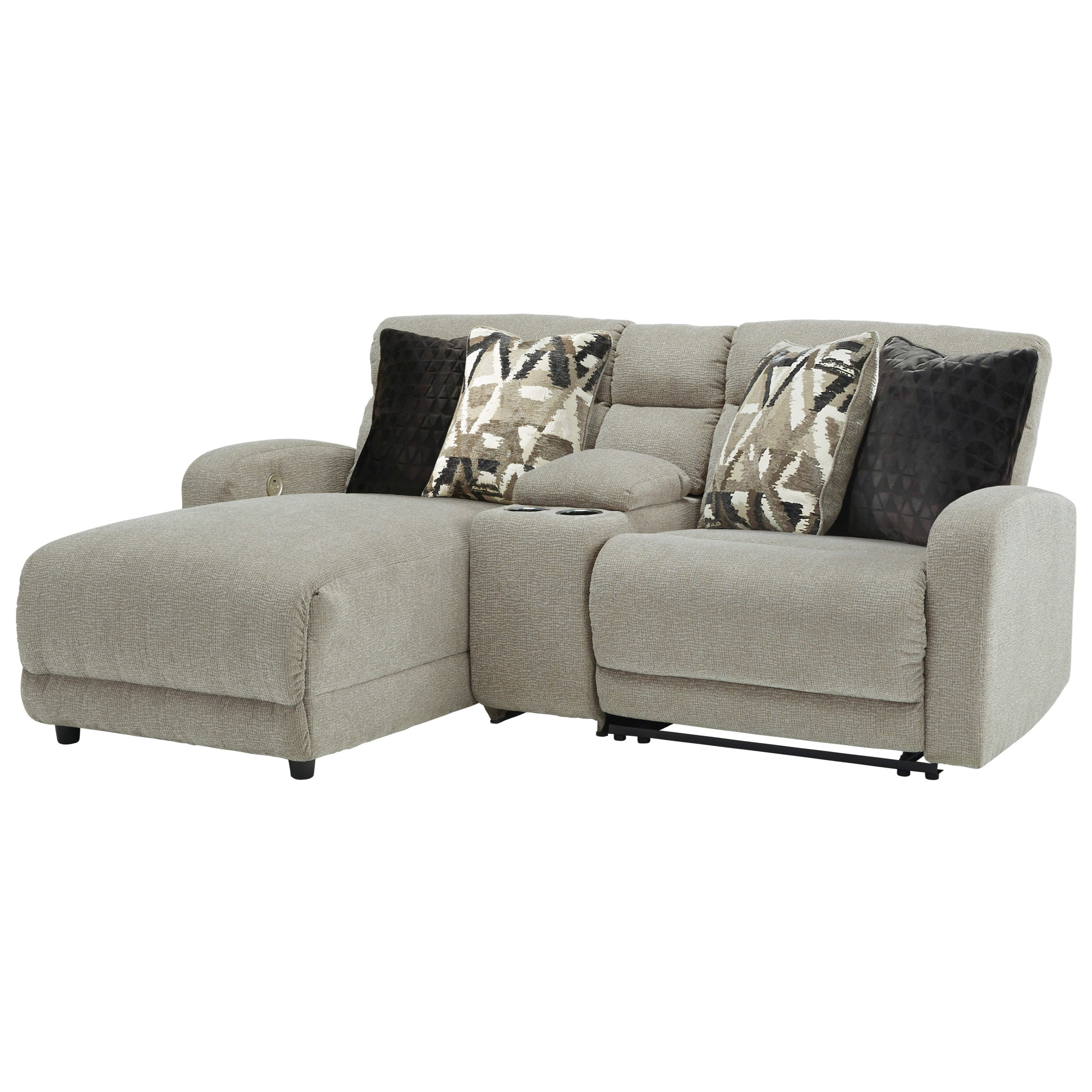 Colleyville 3-Piece Pwr Reclining Sectional with Chaise by Signature Design by Ashley at Sparks HomeStore