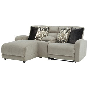 3-Piece Pwr Reclining Sectional with Chaise