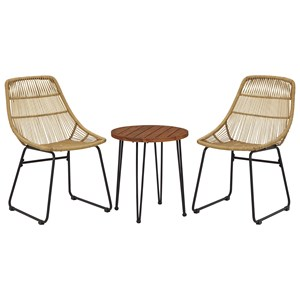 3-Piece Chairs w/ Table Set
