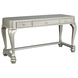 Vanity Desk in Silver Paint Finish