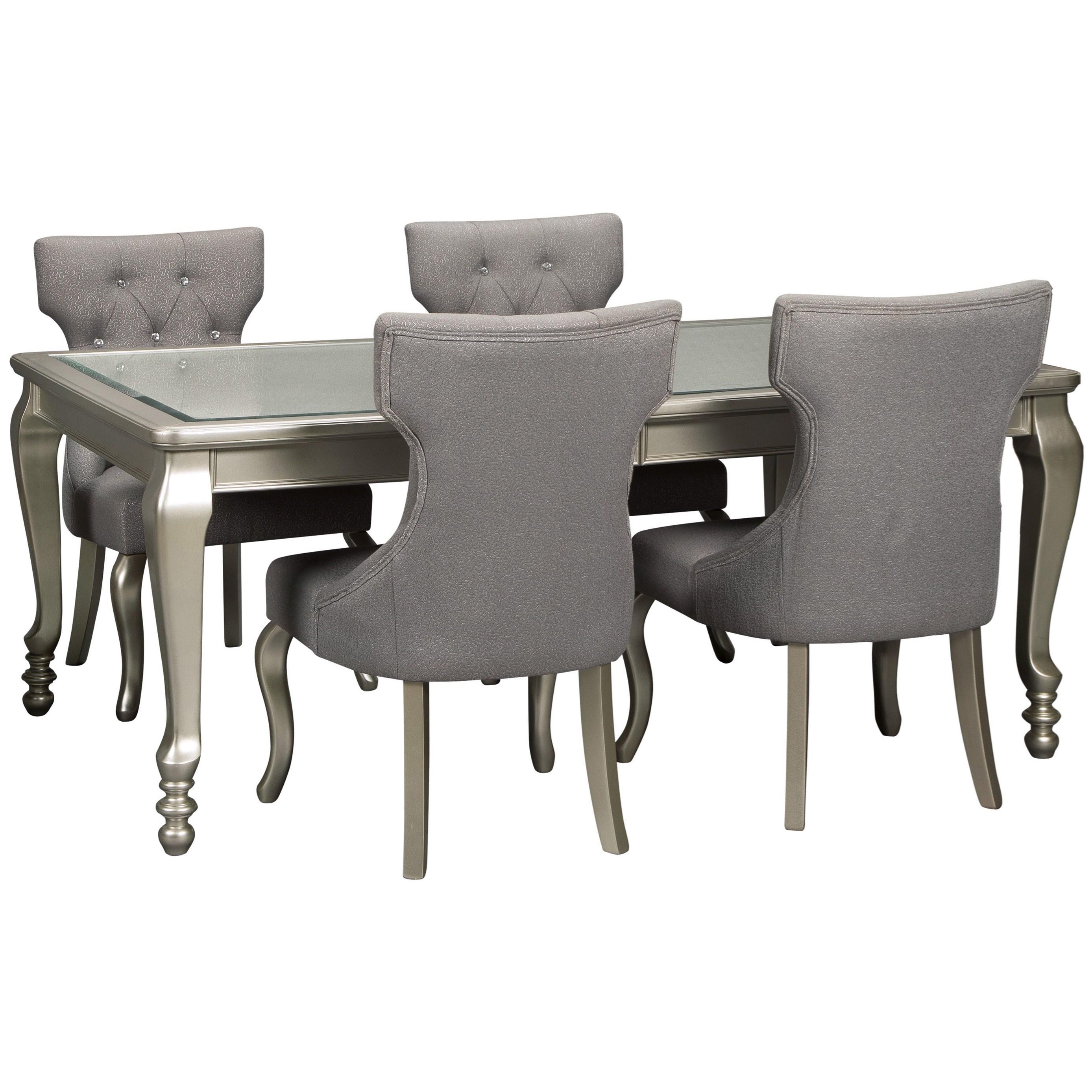Coralayne 5-Piece Rectangular Dining Room Table Set by Ashley (Signature Design) at Johnny Janosik