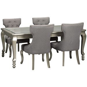 5-Piece Rectangular Dining Room Extension Table Set
