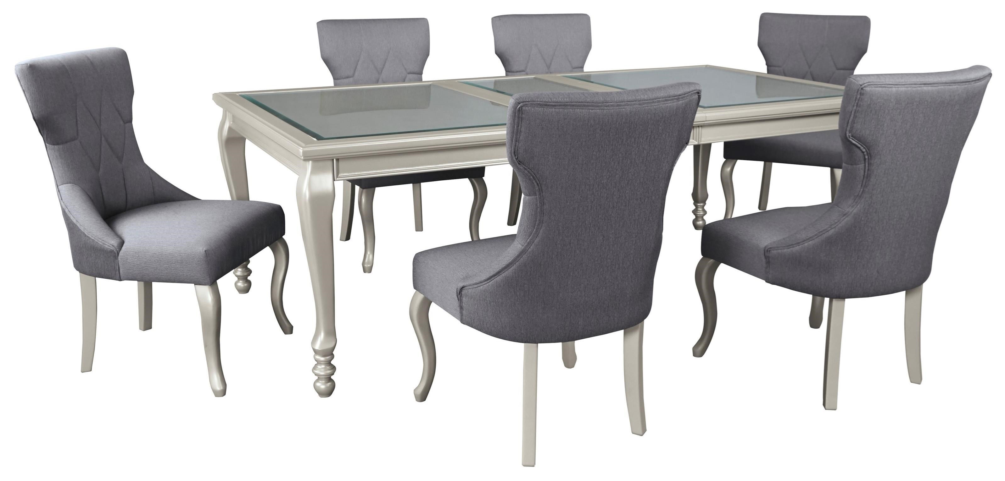 Coralayne 7-Piece Rectangular Dining Room Table Set by Signature Design by Ashley at Northeast Factory Direct