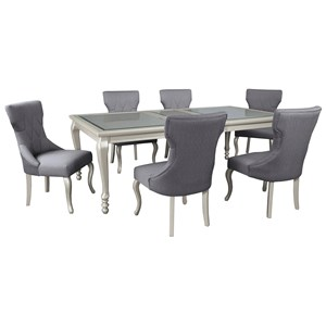 Signature Design by Ashley Coralayne 7-Piece Rectangular Dining Room Table Set