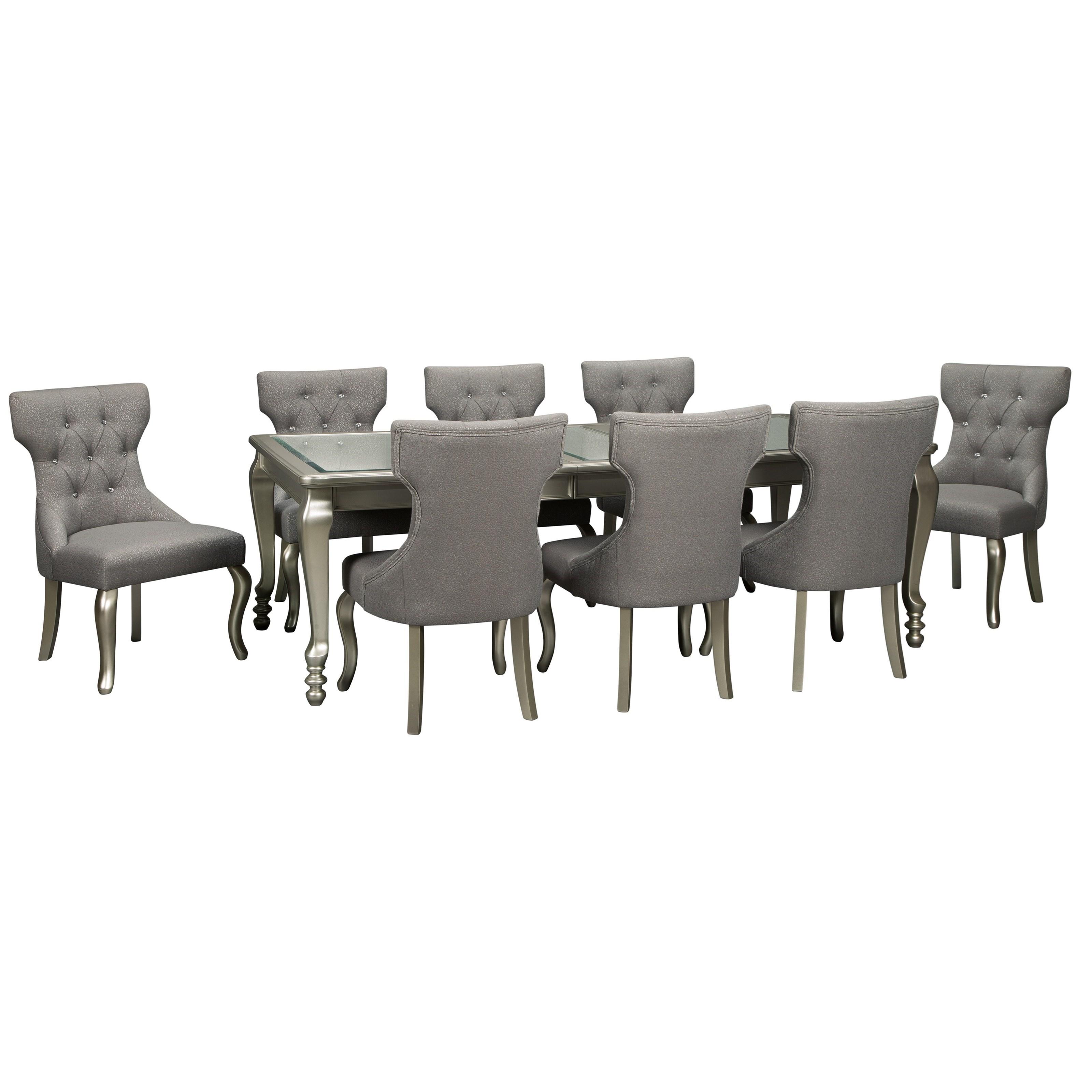 Coralayne 9-Piece Rectangular Dining Room Table Set by Ashley (Signature Design) at Johnny Janosik