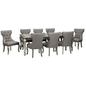 9-Piece Rectangular Dining Room Extension Table Set