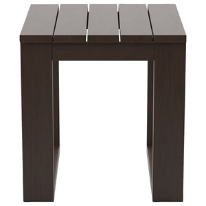 Square Slat Top End Table