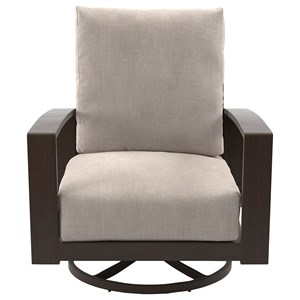 Set of 2 Swivel Lounge Chairs with Cushion
