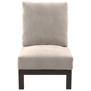 Armless Chair with Cushion