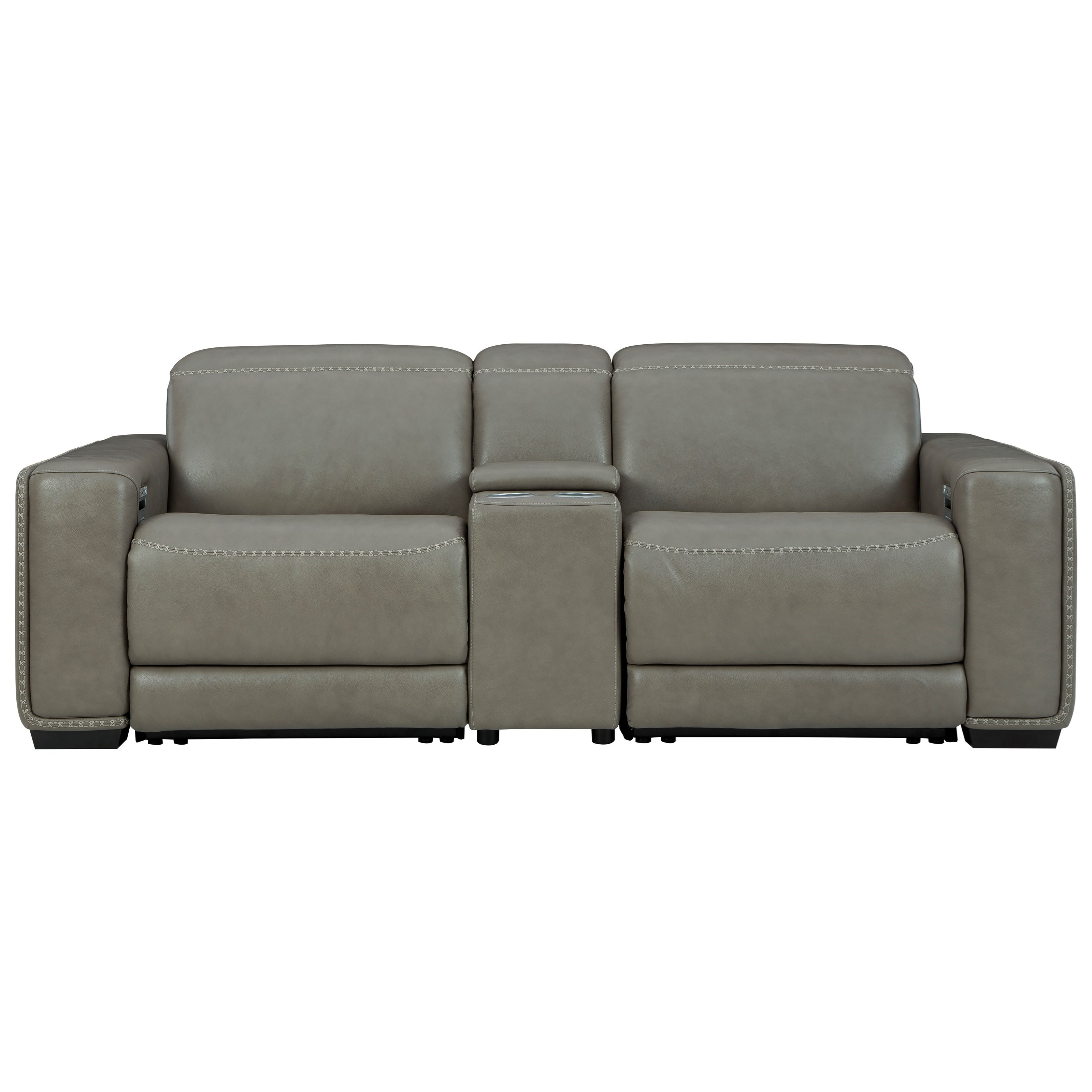 Correze Power Reclining Loveseat w/Console by Signature Design by Ashley at HomeWorld Furniture