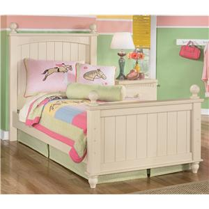 Signature Design by Ashley Cottage Retreat Twin Poster Bed