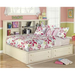 Signature Design by Ashley Cottage Retreat Full Bookcase Bed with Footboard Storage