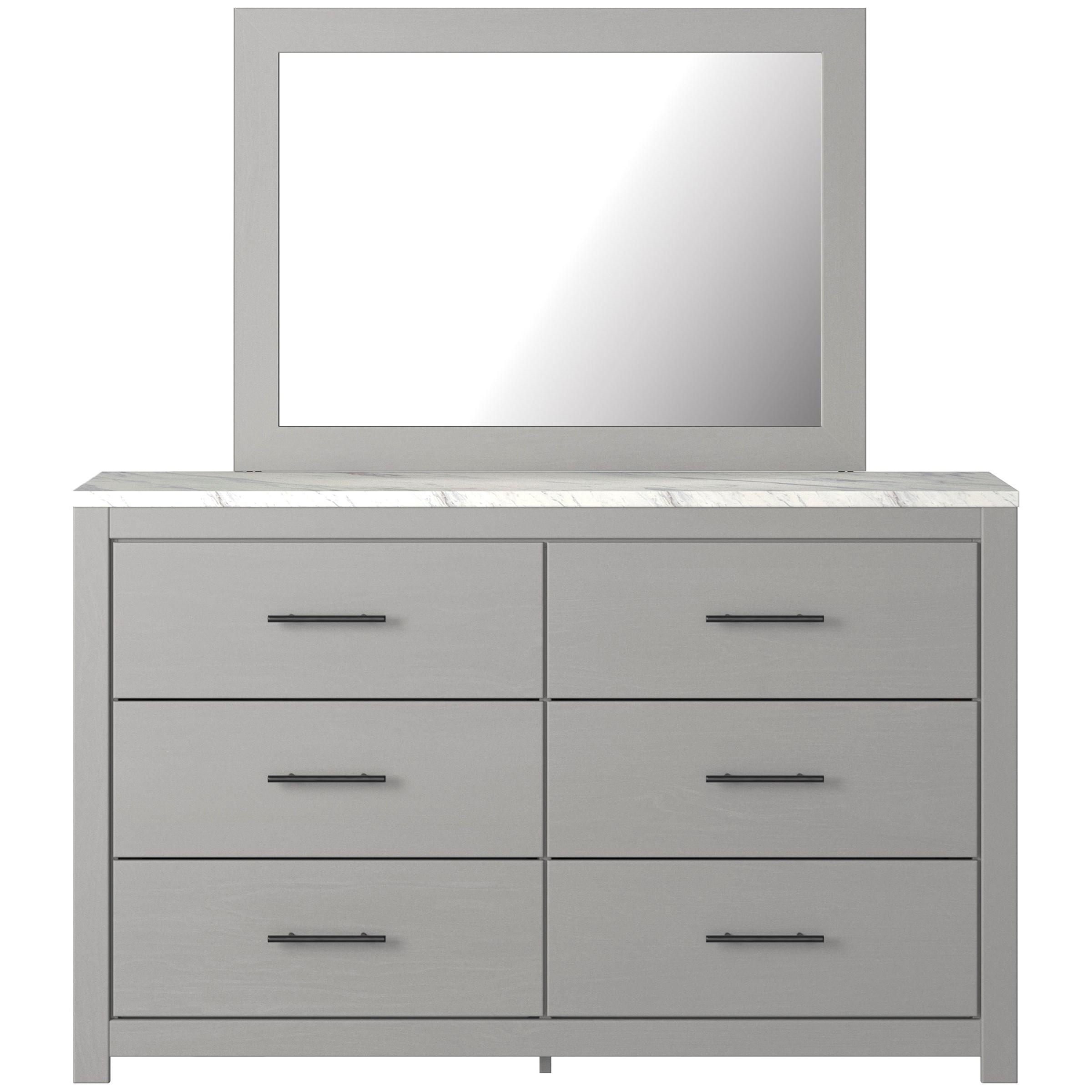 Cottenburg Dresser & Bedroom Mirror by Ashley (Signature Design) at Johnny Janosik