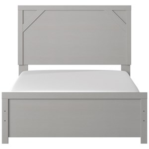 Gray Finish Full Panel Bed
