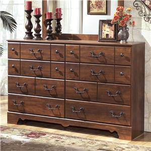 8 Drawer Dresser with Shaped Apron