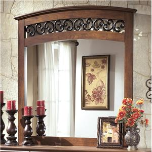 Arched Mirror with Fretwork