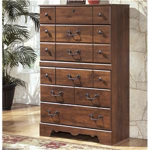 5-Drawer Chest with Shaped Apron
