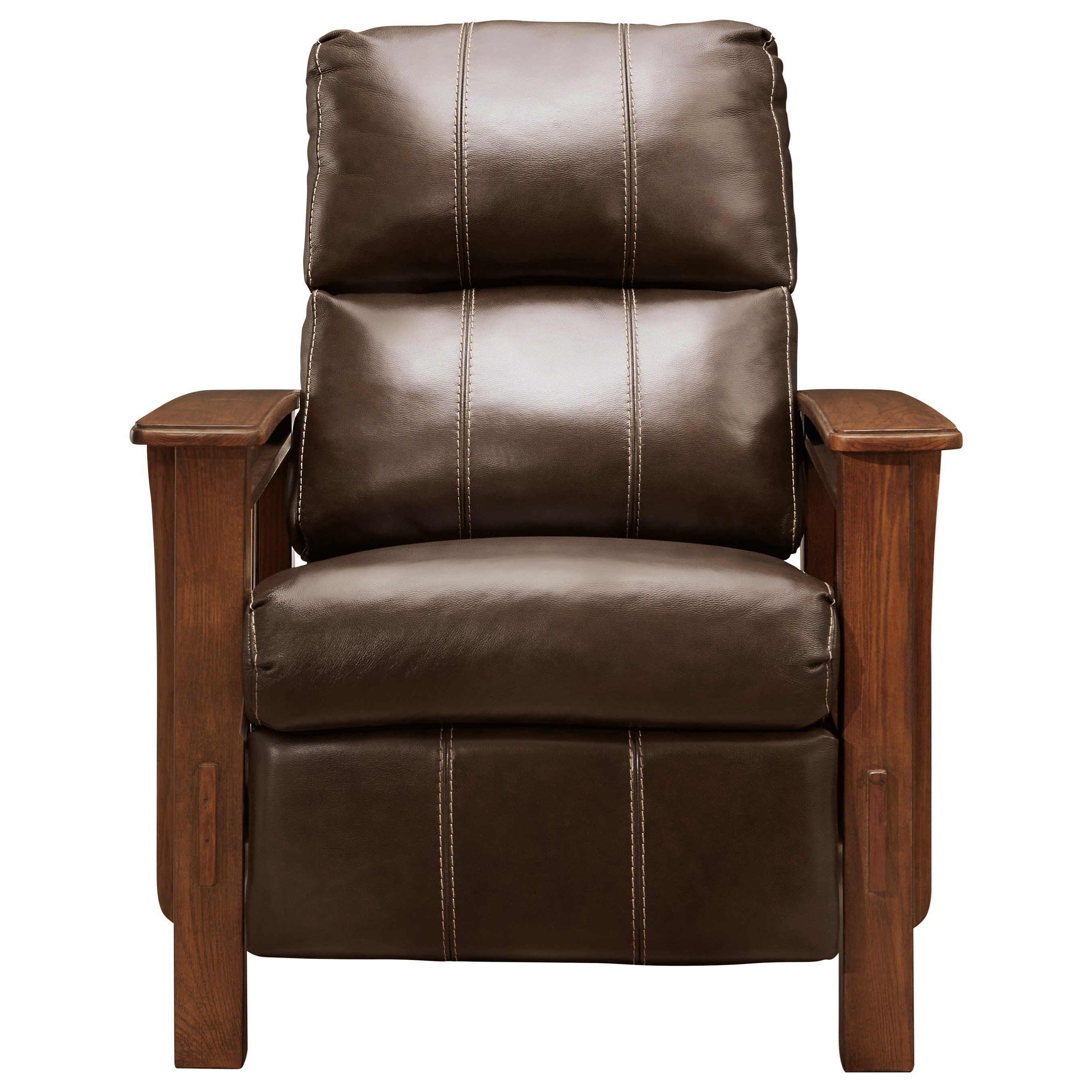 Chandler Leather High Leg Recliner by Signature at Walker's Furniture