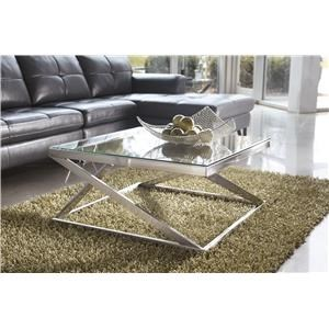 Square Cocktail Table and Square End Table Set
