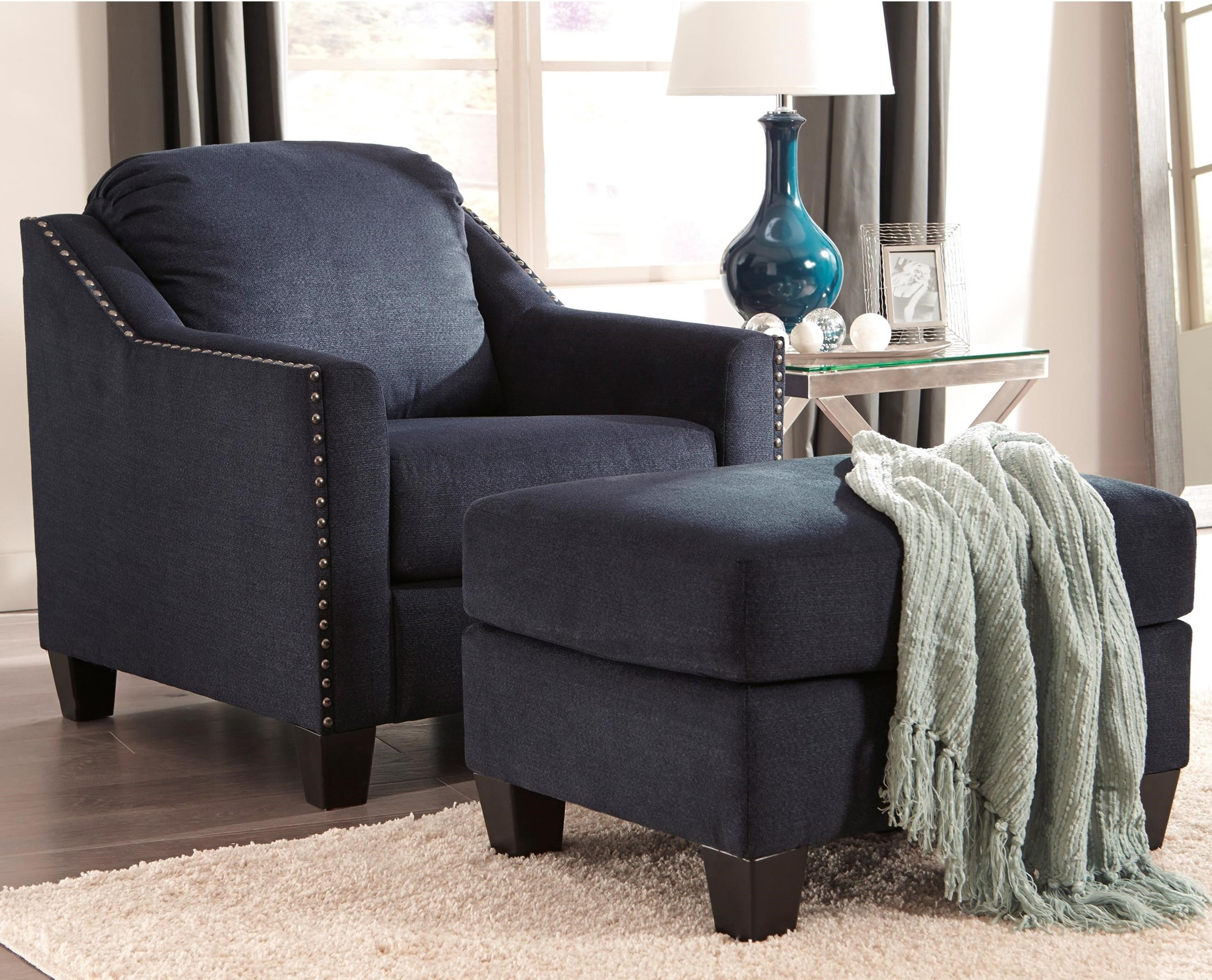 Creeal Heights Chair & Ottoman Set by Benchcraft at Walker's Furniture