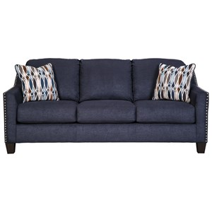 Memory Foam Sofa Sleeper with Nailhead Studs