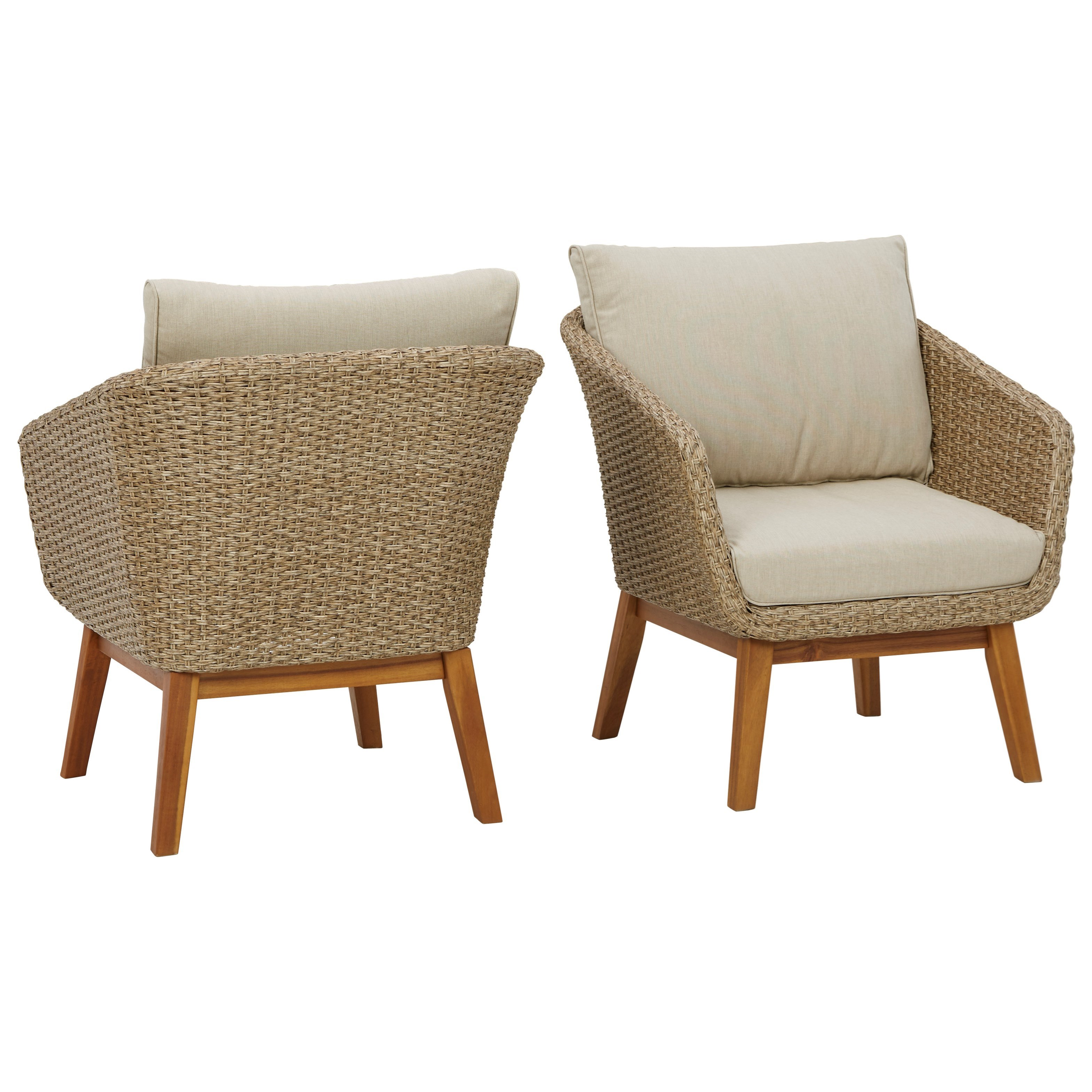 Crystal Cave Set of 2 Lounge Chairs w/ Cushion by Signature at Walker's Furniture
