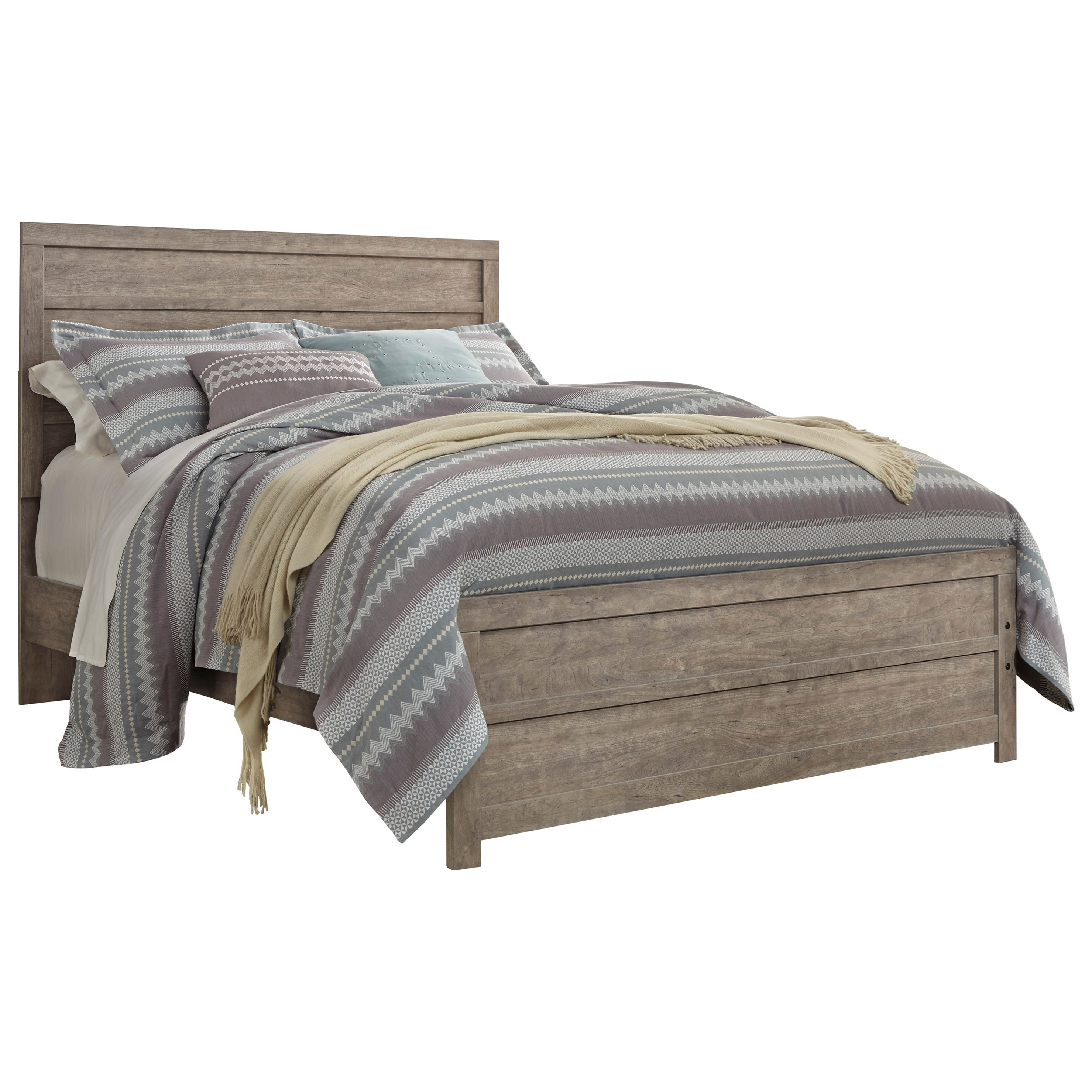 Layla Queen Panel Bed by Ashley at Morris Home