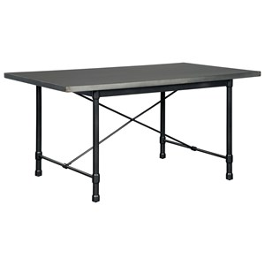 Industrial Rectangular Dining Room Table