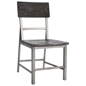 Casual Side Chair with a Contoured Seat