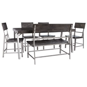 Casual Dining Set with Double Chair
