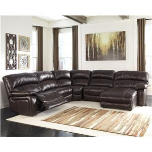 Reclining Sectional with Right Press Back Chaise