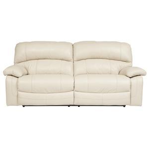 Signature Design by Ashley Damacio - Cream 2 Seat Reclining Power Sofa