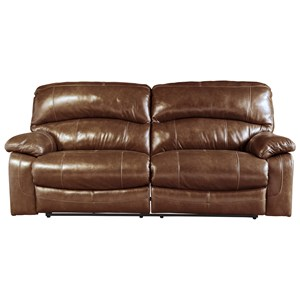 Leather Match 2 Seat Reclining Sofa