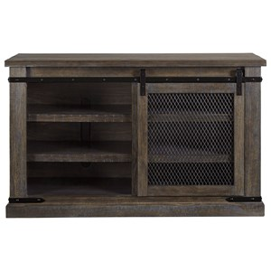 "50"" Rustic TV Stand with Sliding Barn Door"