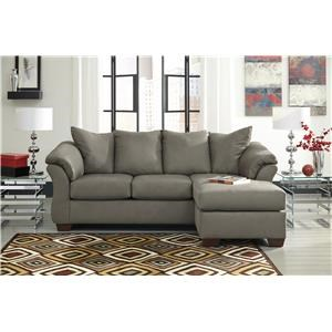 Chaise Sofa, Chair and Ottoman Set