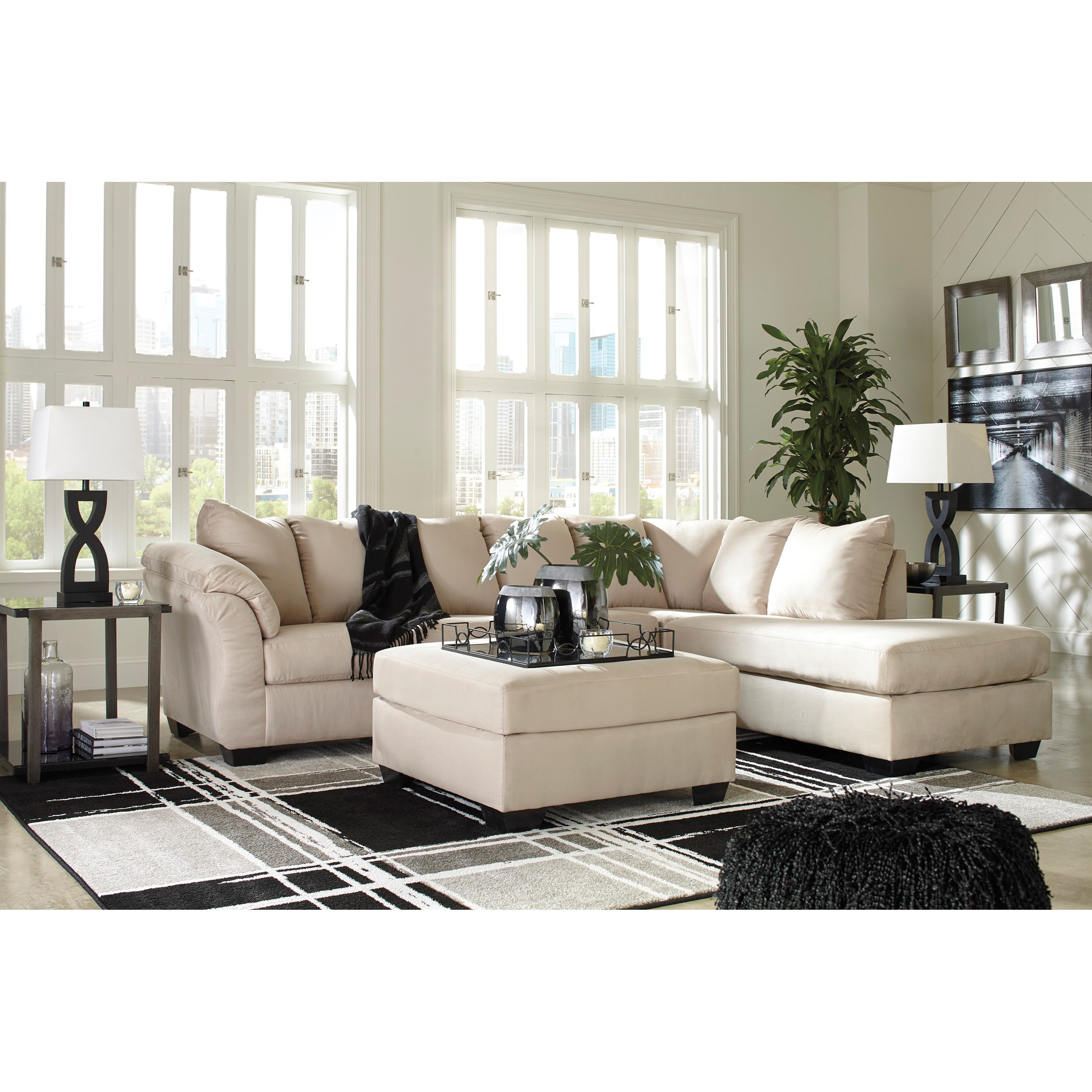 Darcy - Stone Stationary Living Room Group by Signature Design by Ashley at Sparks HomeStore