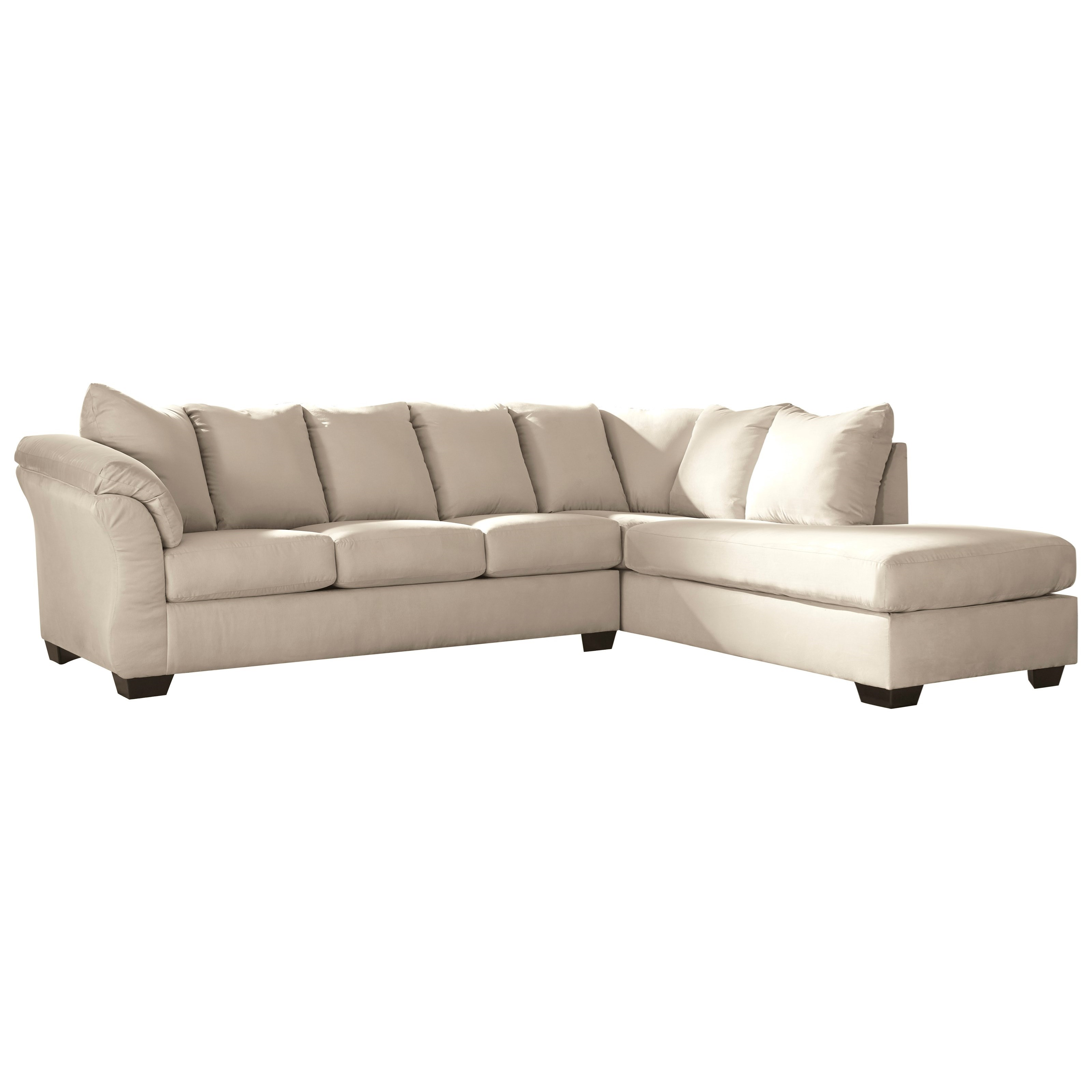 Darcy - Stone 2-Piece Sectional Sofa at Sadler's Home Furnishings