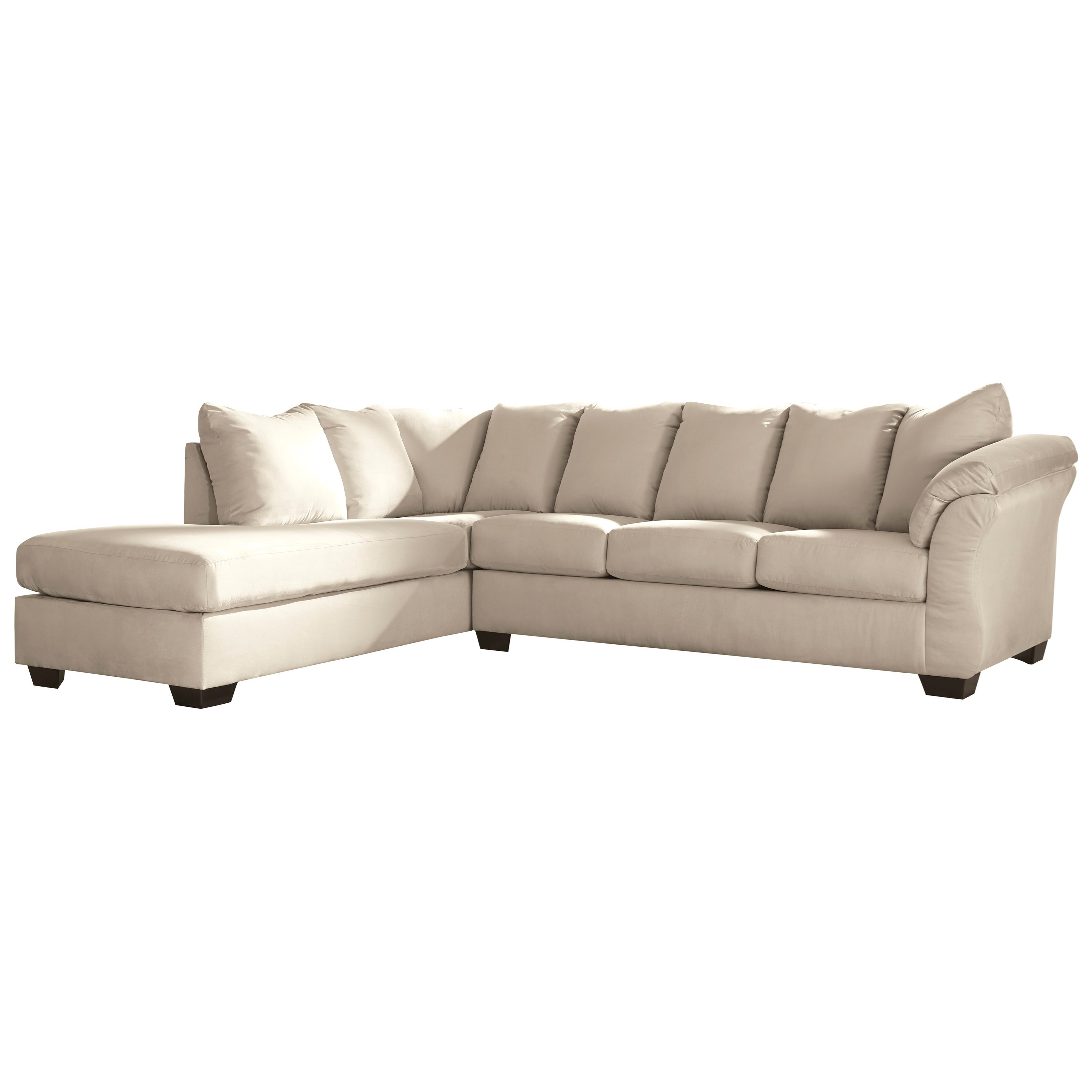 Darcy - Stone 2-Piece Sectional Sofa with Chaise by Signature Design by Ashley at Simply Home by Lindy's