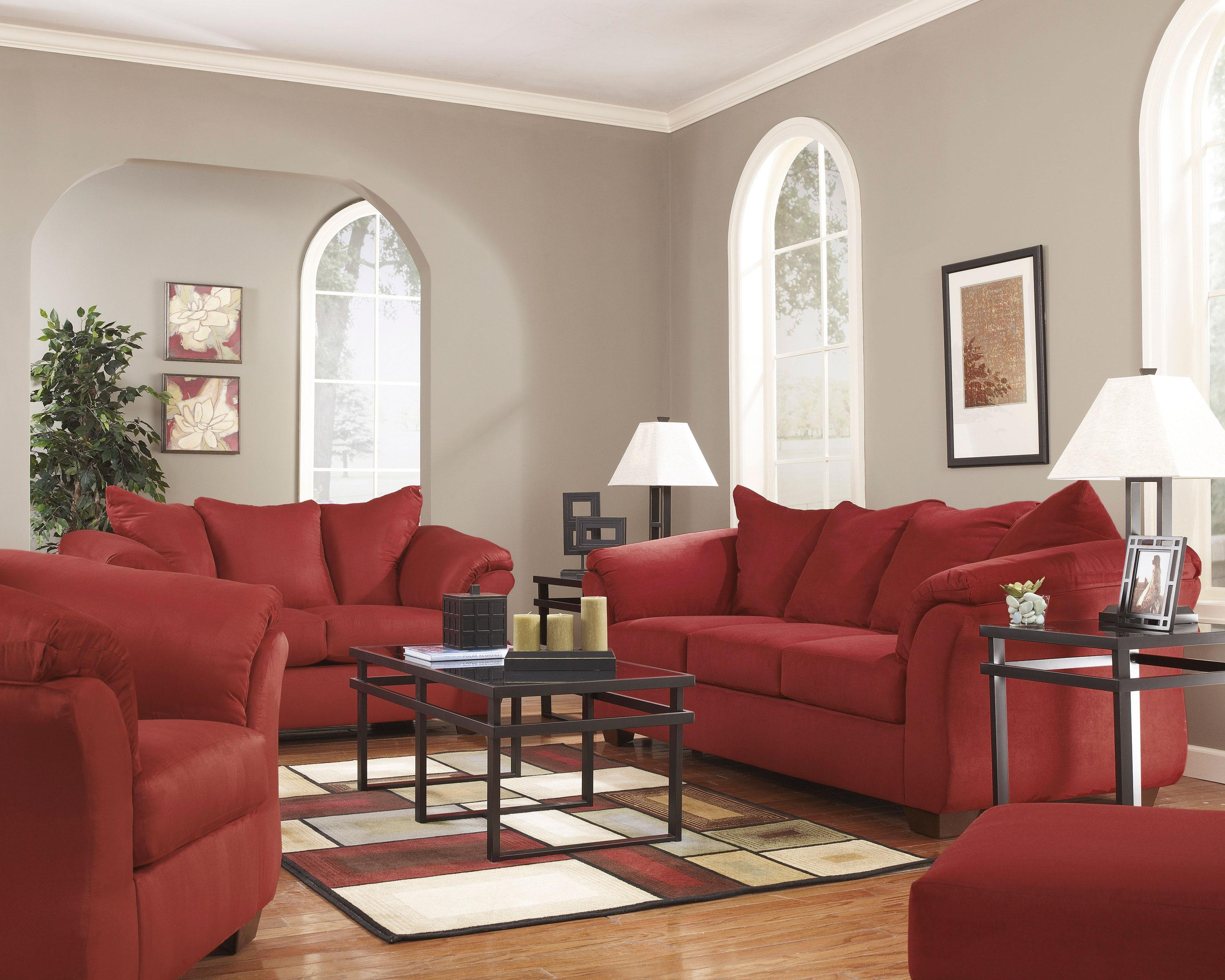 Darcy - Salsa Stationary Living Room Group by Signature Design by Ashley at Zak's Warehouse Clearance Center