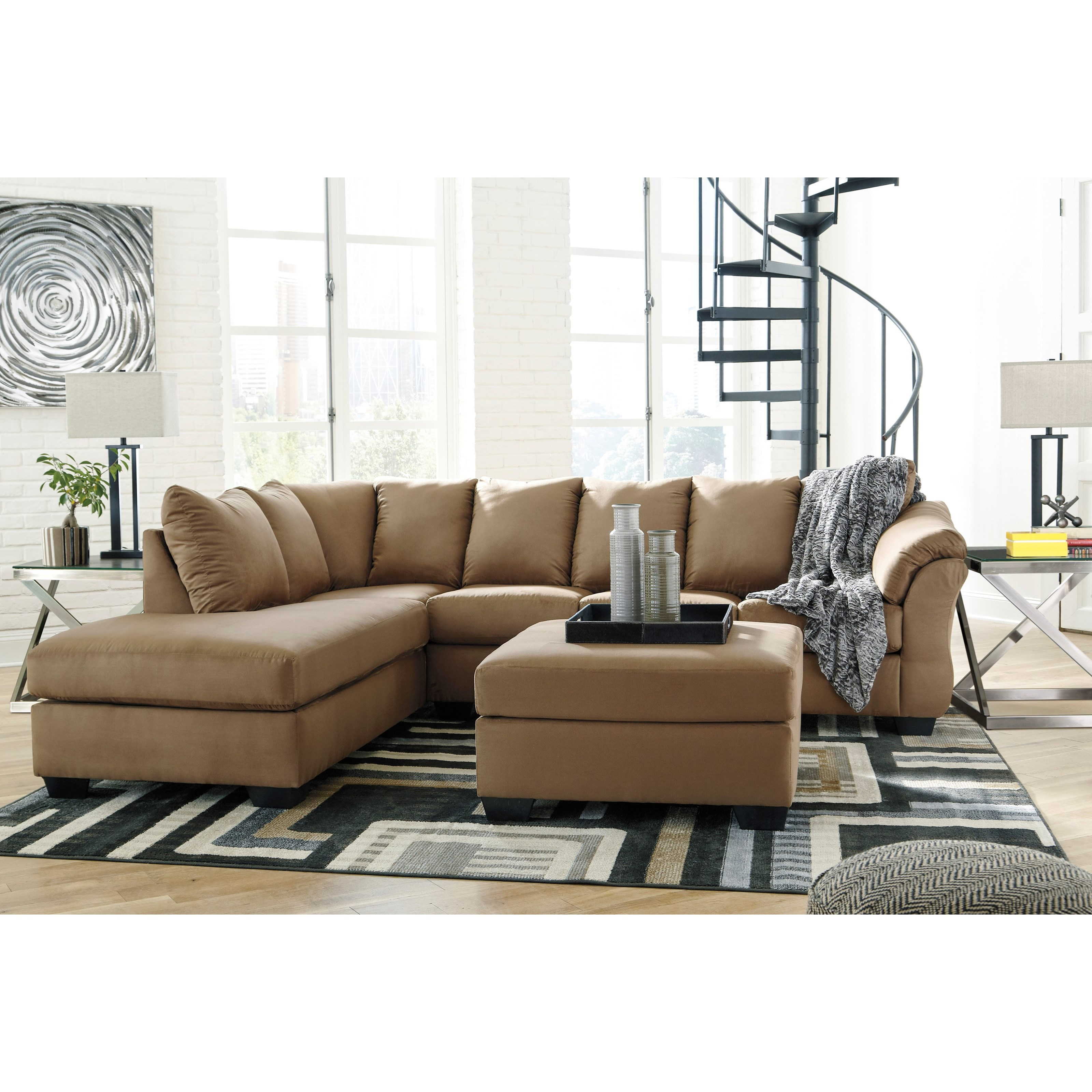 Darcy - Mocha Stationary Living Room Group by Signature Design by Ashley at Suburban Furniture