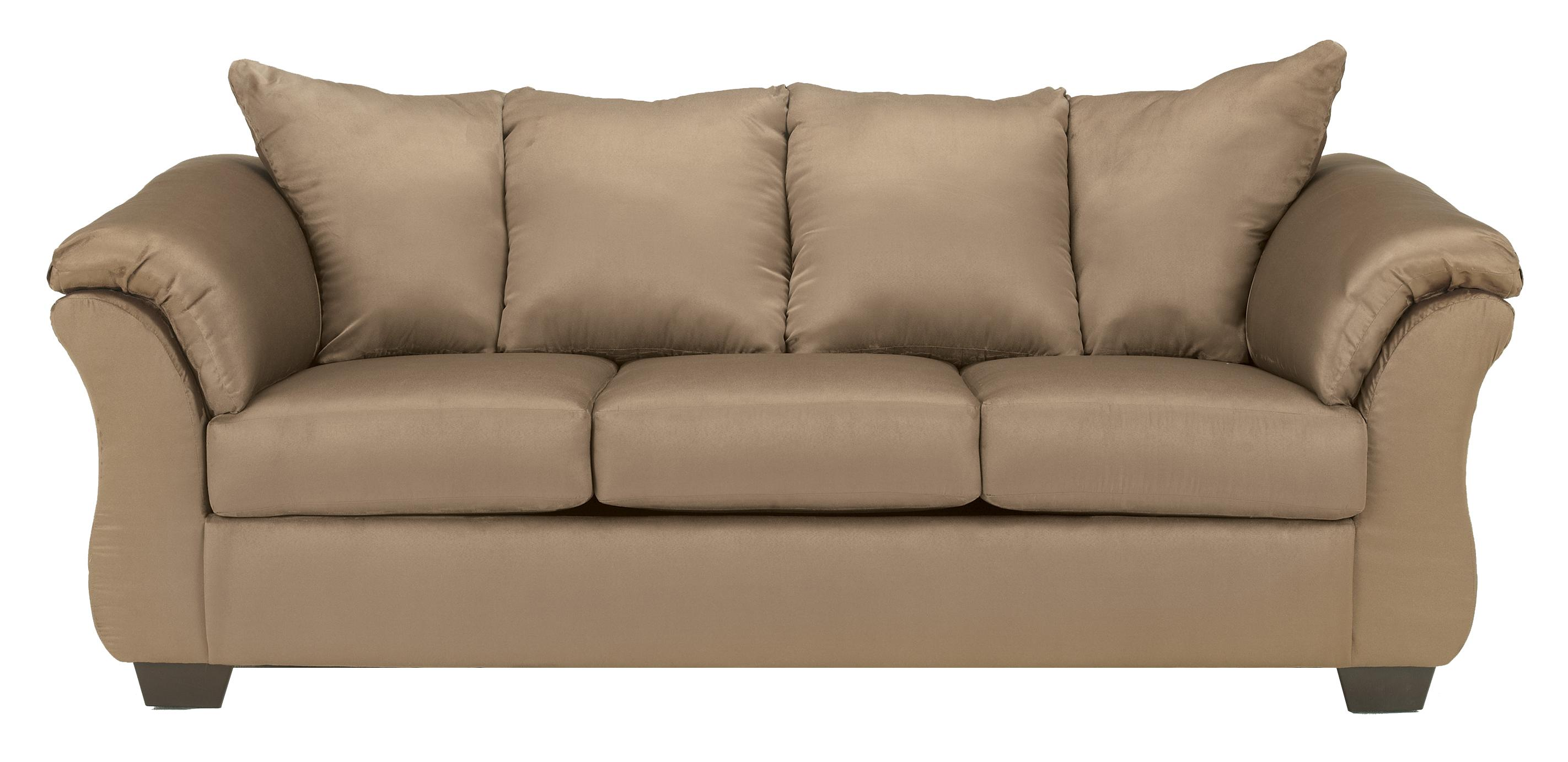 Darcy - Mocha Stationary Sofa by Signature at Walker's Furniture