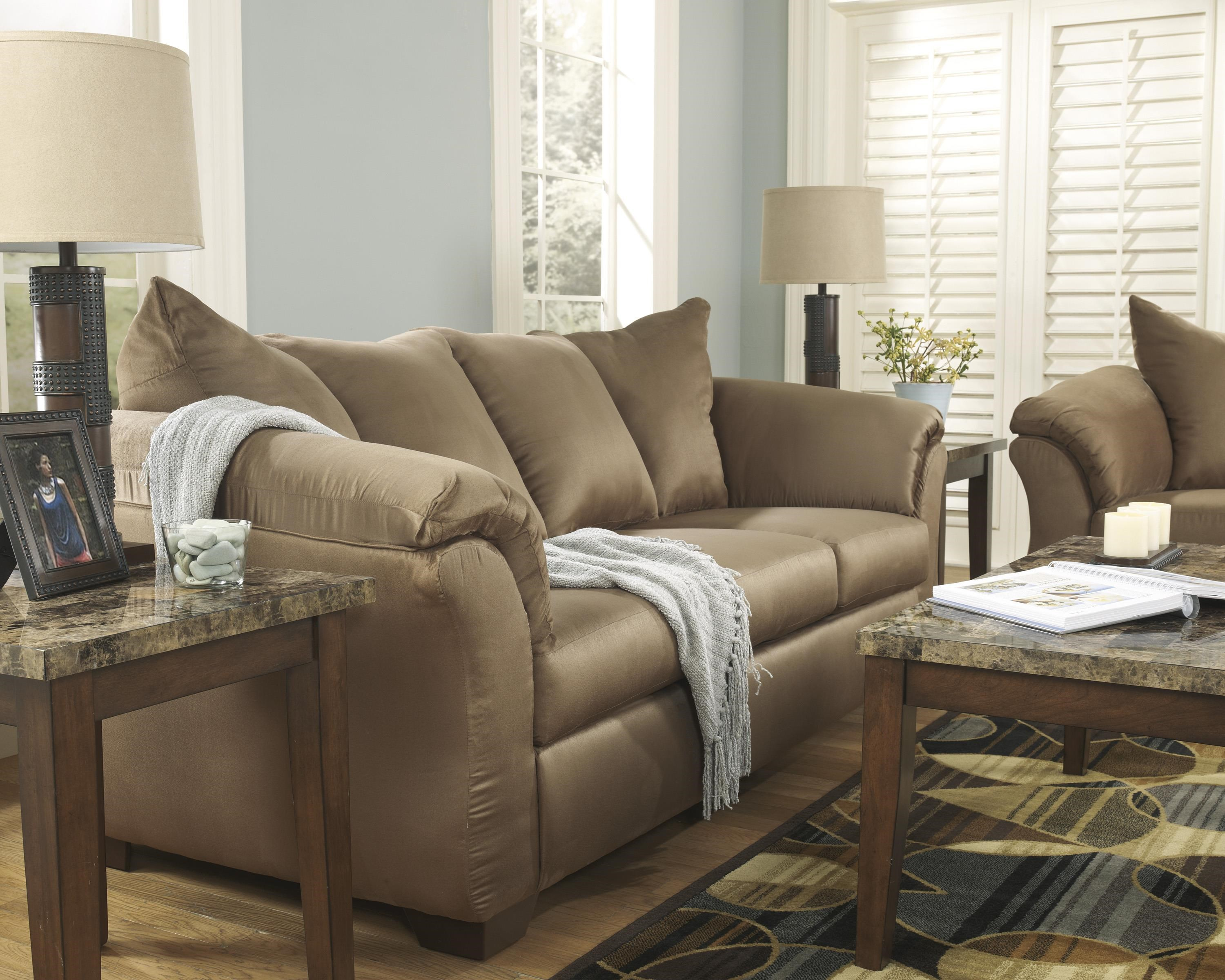 Darcy - Mocha Sofa, Chair and Recliner Set by Signature Design by Ashley at Sam Levitz Furniture