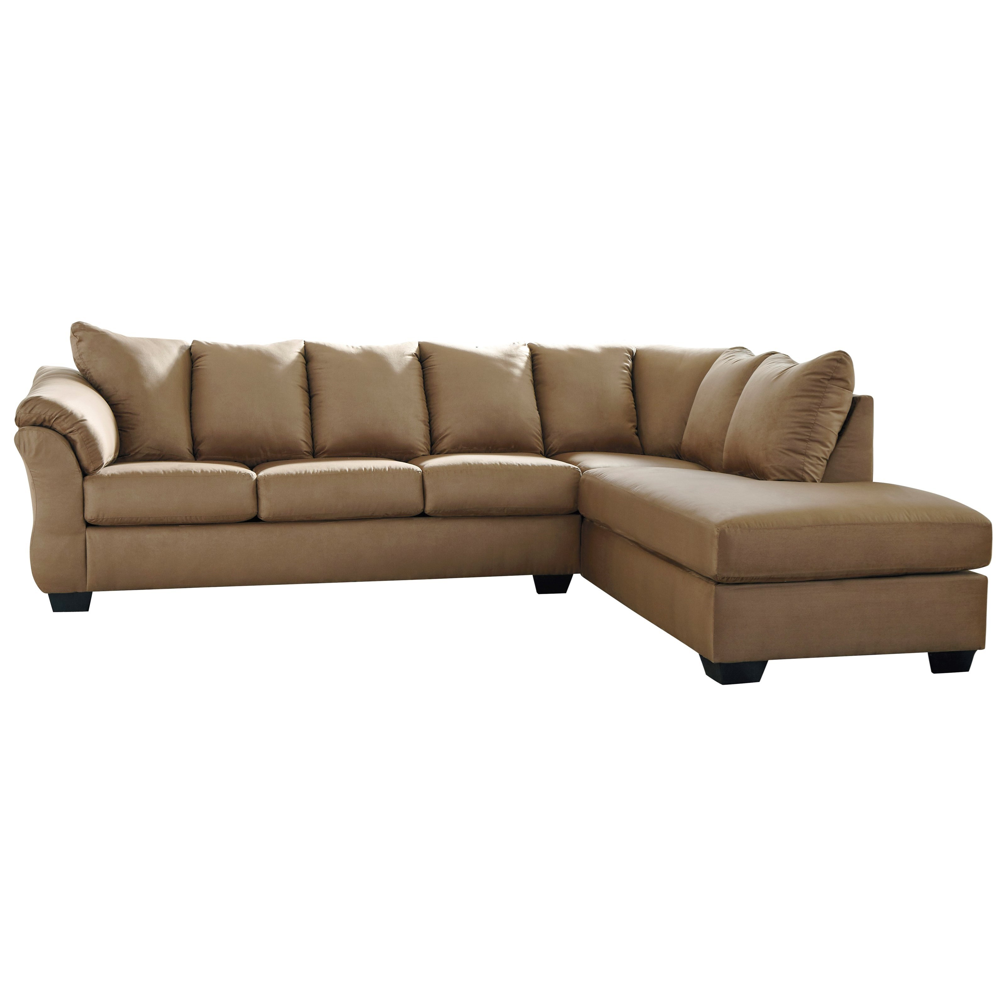 Darcy - Mocha 2-Piece Sectional Sofa by Signature Design by Ashley at Catalog Outlet