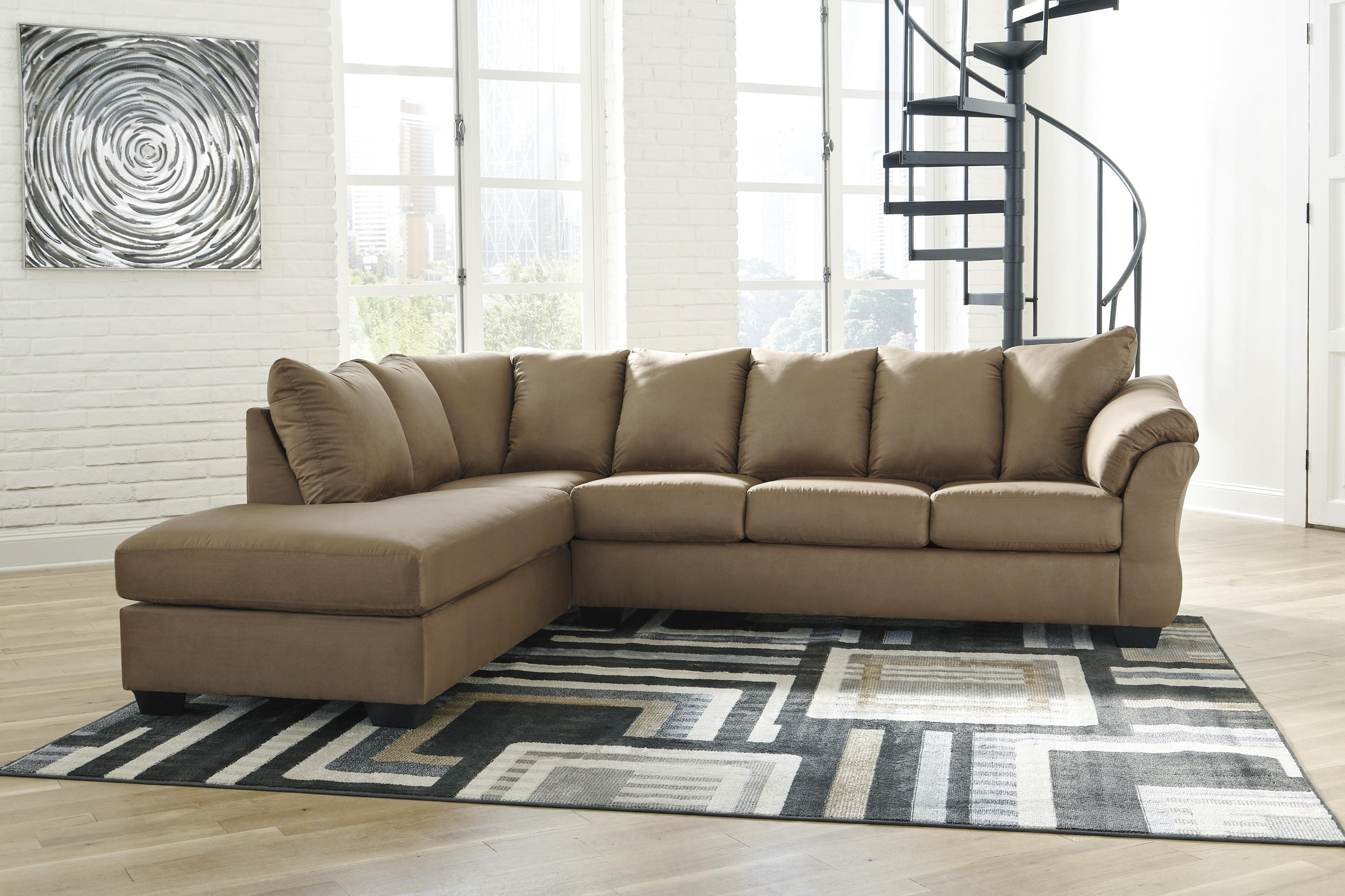 Darcy - Mocha 2 PC Sectional and Recliner Set by Signature Design by Ashley at Sam Levitz Furniture
