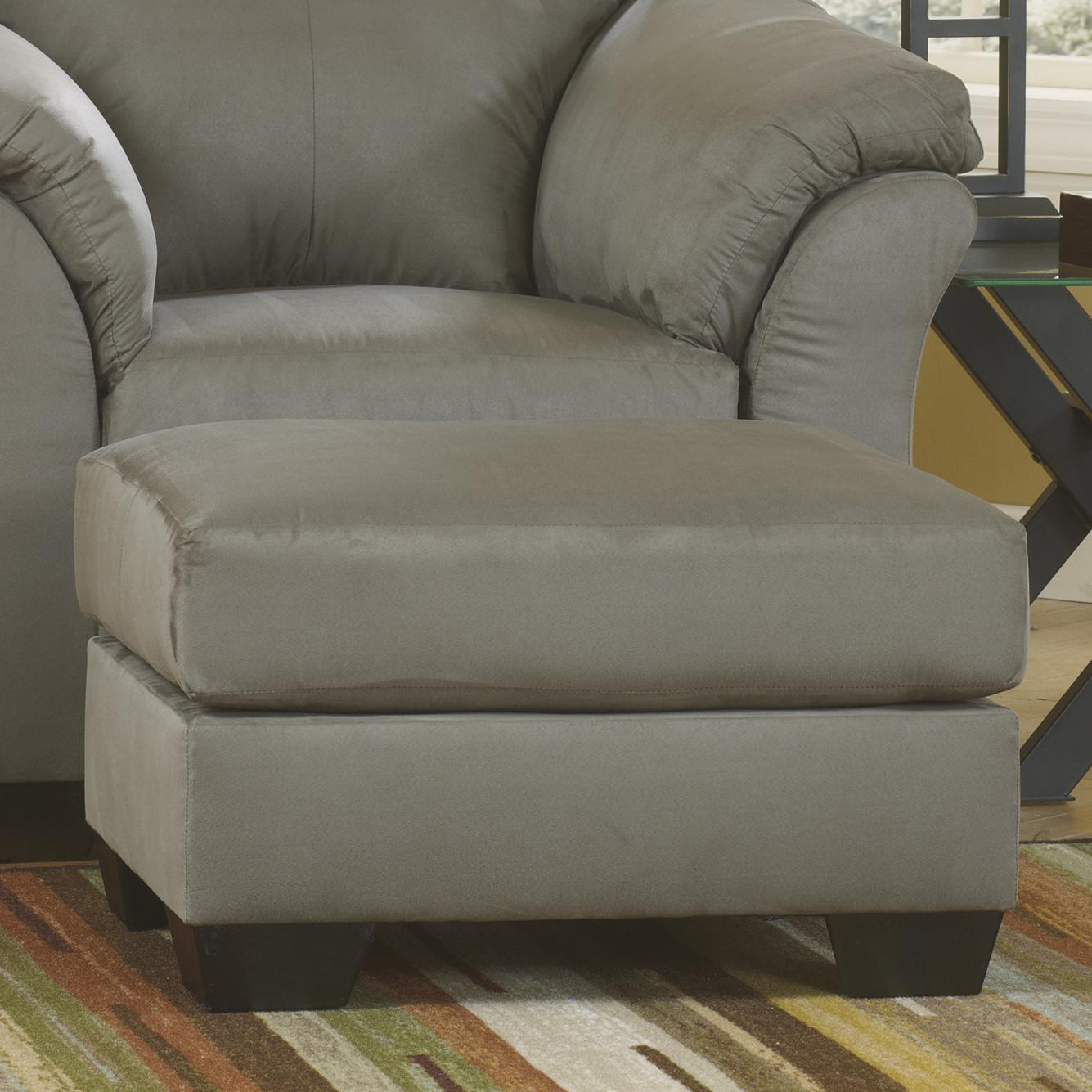 Darcy - Cobblestone Ottoman by Signature at Walker's Furniture