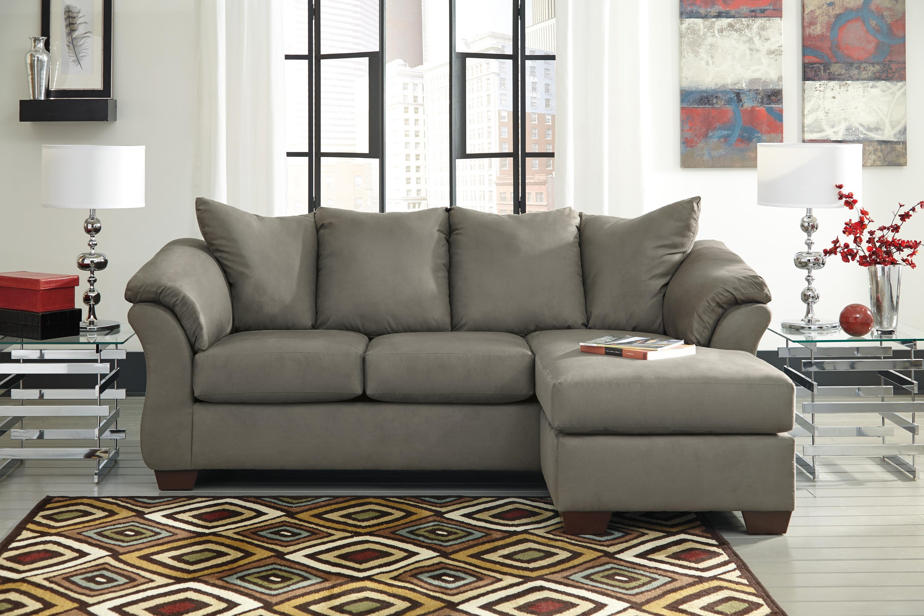 Chaise Sofa, Ottoman and Recliner Set