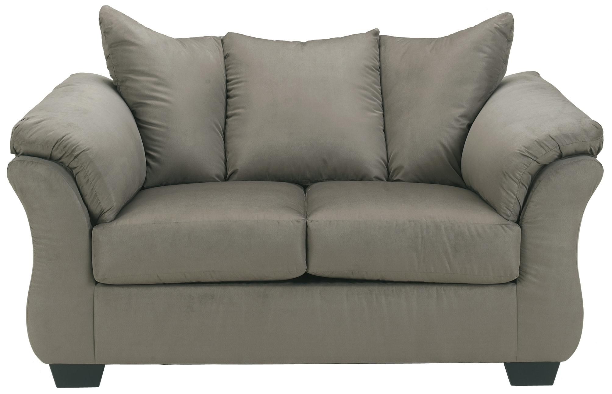 Darcy - Cobblestone Darcy Stationary Loveseat by Ashley at Morris Home